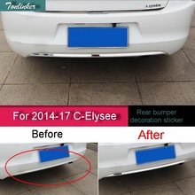 Tonlinker Cover Case Stickers for CITROEN C-Elysee 2014-17 Car Styling 1 PCS stainless steel rear bumper cover case sticker
