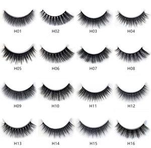 Image 2 - NEW 50 boxes 3D Mink Hair Natural Cross False Eyelashes Long Messy Makeup Fake Eye Lashes Extension Make Up Beauty Tools