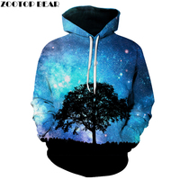 Unisex Sweatshirt Hoodies 3D Print Ruimte Galaxy Hiphop Losse Jassen Casual Sweatshirt Gemengde Kleur Vrouwen Mannen