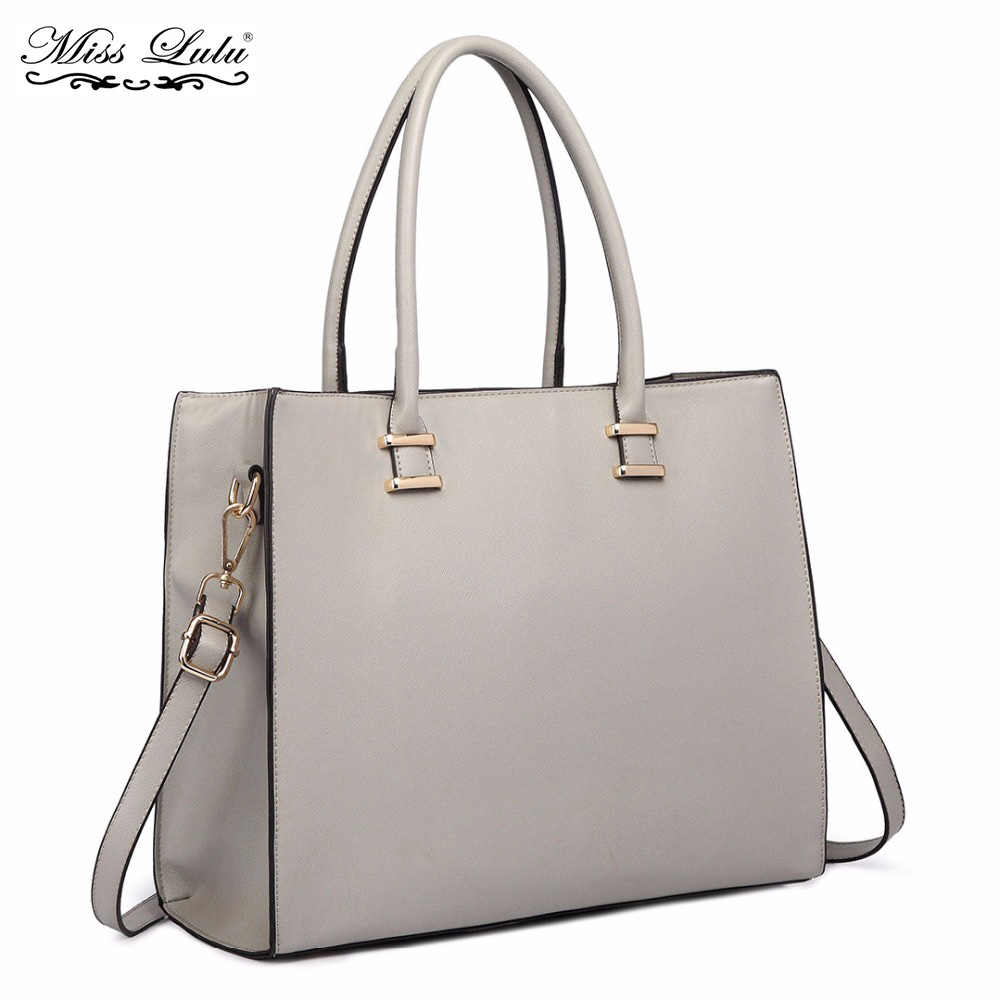 Miss Lulu Women Designer Luxury Handbags Ladies Elegant Shoulder Bag Female  Large PU Leather Tote Girls 9af9017ff7d3d
