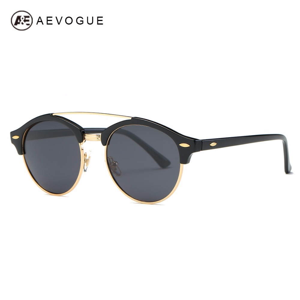 AEVOGUE Polarized Sunglasses Mens Classic Retro Summer Style Brand Designer Unisex Steampunk Sun Glasses UV400 AE0504