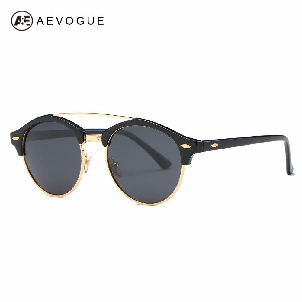 AEVOGUE Polarized Sunglasses Mens Classic Retro Summer Style Brand Designer Unisex Steampunk Sun Glasses UV400 AE0504
