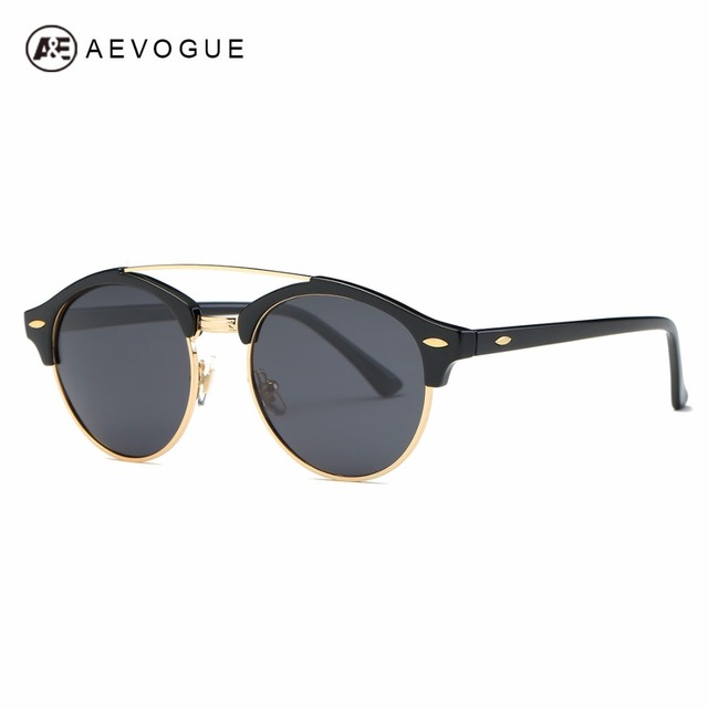 Aevogue polarizada óculos de sol dos homens retro clássico estilo verão marca designer unisex steampunk óculos de sol uv400 ae0504
