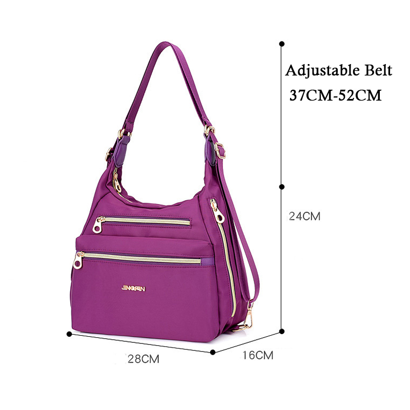 b169e06e3945 4 in 1 Large Capacity Bag Fashion Shoulder Bag Women Luxury Handbag For  Women Solid Nylon Schoolbag Multifunctional Shoulder
