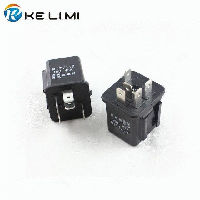 KE LI MI Car lighting Dimmer charge Relay 5 prong 40A Amp High voltage 5 pins_640x640 pcb 4 pin relay wiring diagram 4 pin trailer connector diagram viar 80 amp relay wiring diagram at bayanpartner.co