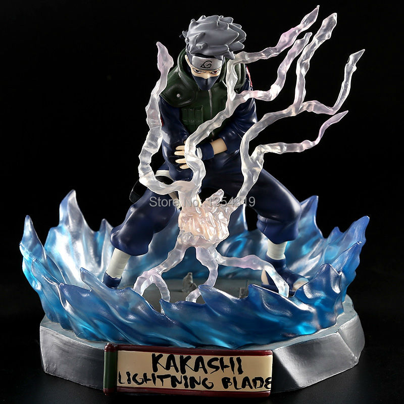 New anime NARUTO figure Hatake Kakashi 16cm pvc action figure painted Lightning Blade Ver. Kakashi Doll Collectible Model Toy free shipping japanese anime naruto hatake kakashi pvc action figure model toys dolls 9 22cm 013