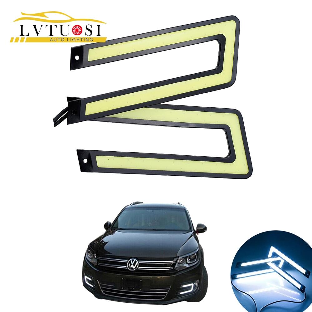 LVTUSI COB U formas DRL LED dienas gaitas gaismas LED automašīnu - Auto lukturi - Foto 2