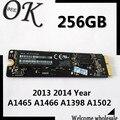 Original 256 gb ssd para macbook a1465 a1466 a1398 a1502 2013 2014 año unidades de estado sólido
