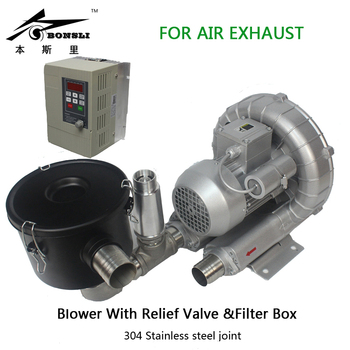цена на 750w single phase 220v side channel blower vortex blower ring blower for air exhaust suction with Frequency Converter