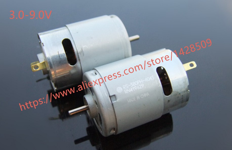 US $4 99 |Large torque metal 3v 9V strong magnetism Micro DC Motor 380 for  Science and Technology Making model airplane-in Parts & Accessories from