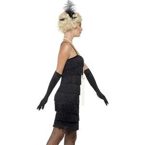 Image 3 - Charleston Gatsby Fringe Flapper Vestito 8 A File Del Partito Della Nappa Vestito Delle Donne 1920s Roaring 20s Costume Sexy Stappy Nero vestito