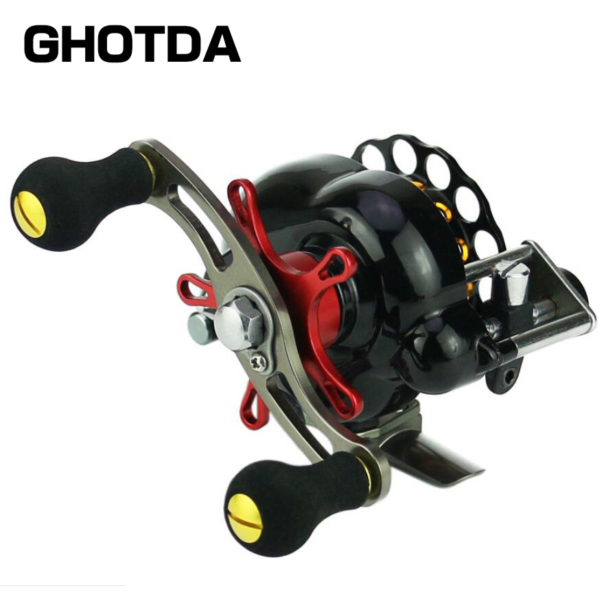 Fly Fishing Reel Ice Trolling 5BB Right Left EVA Handle Baitcasting Raft Fishing Reel small size soft eva fishing reel protective reel bag case cover for drum spinning raft reel fishing pouch bag