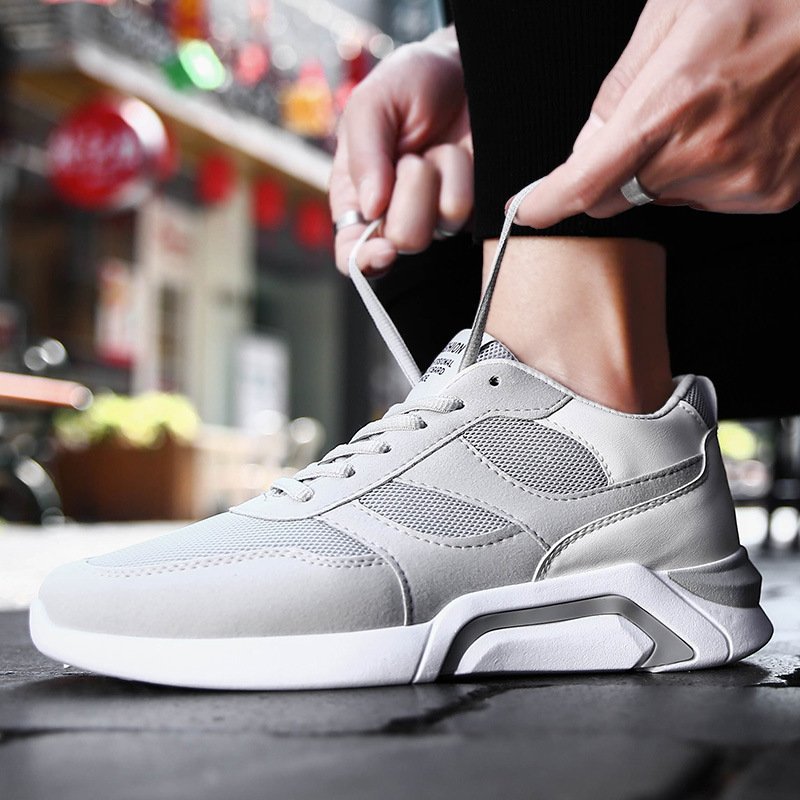 Sapatos Lazer Não Misturadas cinza Casuais De Para Rendas microfibra Grife Tênis Couro Até Preto Cores Homens Verão vermelho qfI1wAf