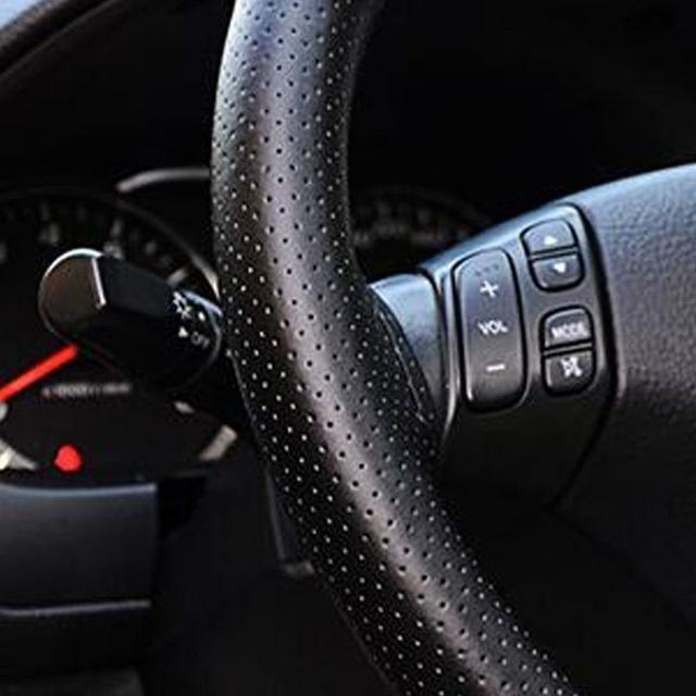 Nuevo Universal antideslizante transpirable PU cuero DIY coche volante funda con agujas e hilo