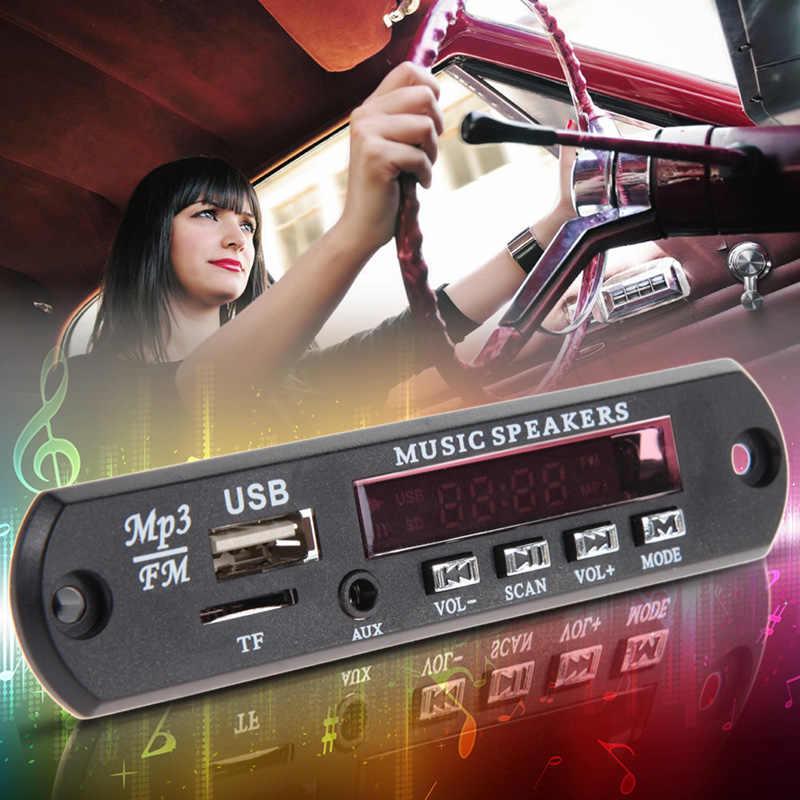 Автомузыка MP3 WMA Плата декодера стандарта Панель 12В автомобилей аудио декодер доска модуль USB TF FM радио плеер с пультом дистанционного управления