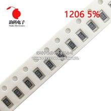 100pcs 1206 5% SMD resistor 0R ~ 10M 1/4W 0 1 10 100 150 220 330 ohm 1K 2.2K 4.7K 10K 100K 0R 1R 10R 100R 150R 220R 330R 1M 10M