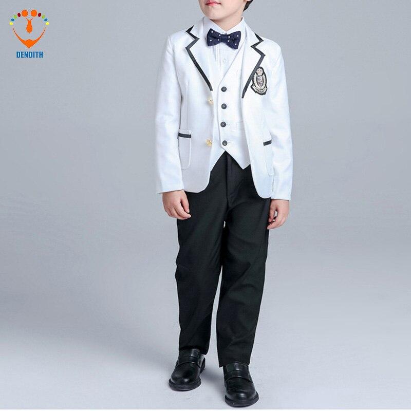 New Style Black Boys Suits for Weddings Boy Prom Blue Blazer Jacket ...