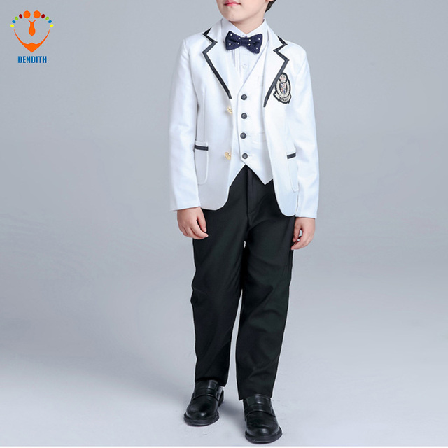 5 Pcs/Set New Arrival Fashion Boy Suit For Wedding Prom Formal Black ...