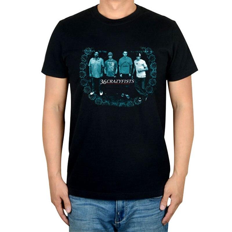 10 видов стилей Harajuku милые 36 crazyfists панк-рок белый черный рубашка ММА фитнес хлопок тяжелый металл Футболка с принтом Тис мяч - Цвет: 10