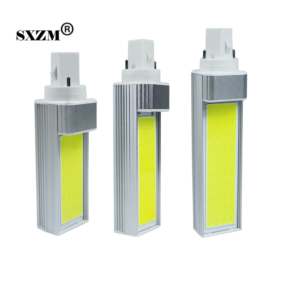 SXZM G24 10W 12W 15W COB LED PL bulbs AC110V 220V White/Warm white home lamp spotlight lighting bedroom dinning room