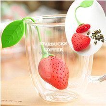 OUSSIRRO 1Pc lovely Reuseable Foof safe Silicone Red Strawberry Shape Tea Leaf Bag Holder Tea Coffee Punch Filter Tea Infuser opening promotion creative silicone tea bag tea pot shape tea filter safely cleaning infuser tea tool