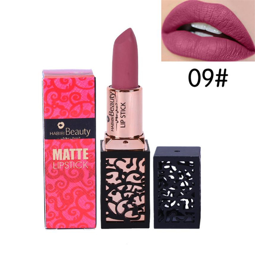 New long lasting matte lipstick HABIBI BEAUTY 1PC Lipstick Cosmetics Women Sexy Lips Matte Lasting Lip Gloss Party Makeup Pretty 6