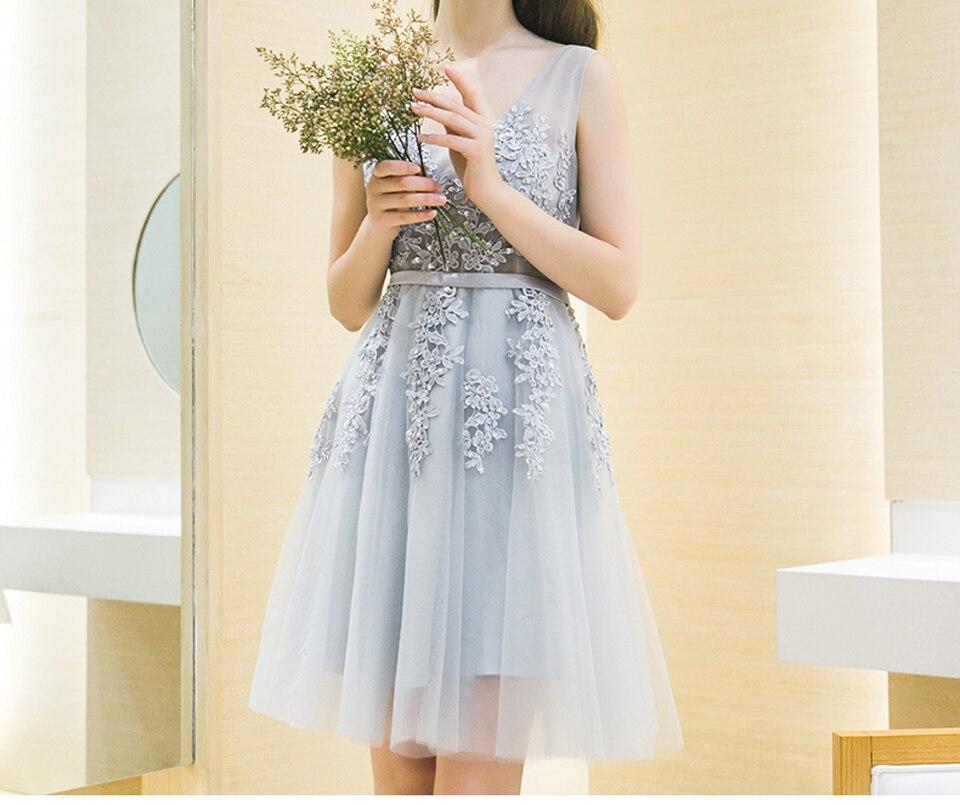 Elegant Off The Shoulder Knee Length Lace V Neck A Line Bridesmaid Dress