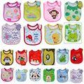 Cute Baby Towel Saliva Waterproof New Kids Cartoon Pattern 3 Layer Toddler Lunch Bibs