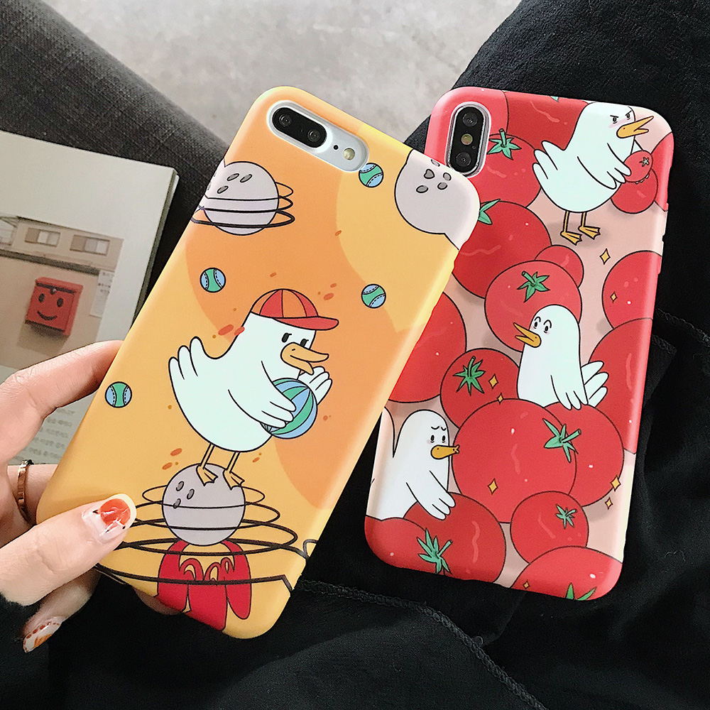 KIPX1123_8_JONSNOW Solid Liquid Soft Silicone Case For iPhone X XR XS Max 6 6S 7 8 Plus Cases Painted Cartoon Chick Cat Pattern TPU Cover