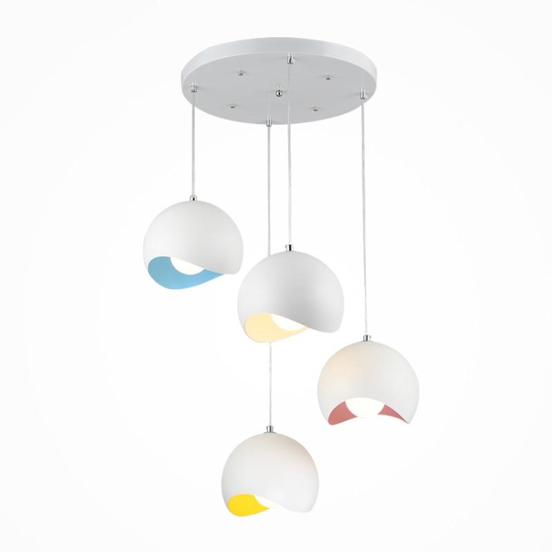 Moderne simple suspension lumière or aluminium abat-jour blanc jaune bleu violet Bjornled hanglamp E27 porte-lampe nodric droplight