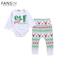 Fansin Brand Baby Boy Girl Rompers Christmas Gift Outfits Romper Deer Pants Legging 2PCS Newborn Jumpsuit