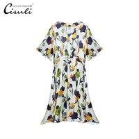 Женские платья шелковое вечерние платье Мода отпуск Harajuku стиль шелк стрейч атласная ткань лето сексуальный v образный вырез женские ClothingS 5XL