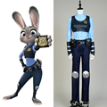 2016 Oficial de Conejo Zootopia Judy Hopps Policía Traje de Las Mujeres Niñas Fiesta De Halloween Del Club Judi Anime Cosplay Disfraces con Orejas