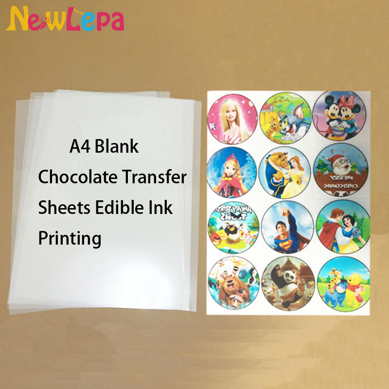Chocolate Transfer Sheets A4 Blank Apply Food Prints Onto Chocolate Edible Ink Printing Wholesale Discount