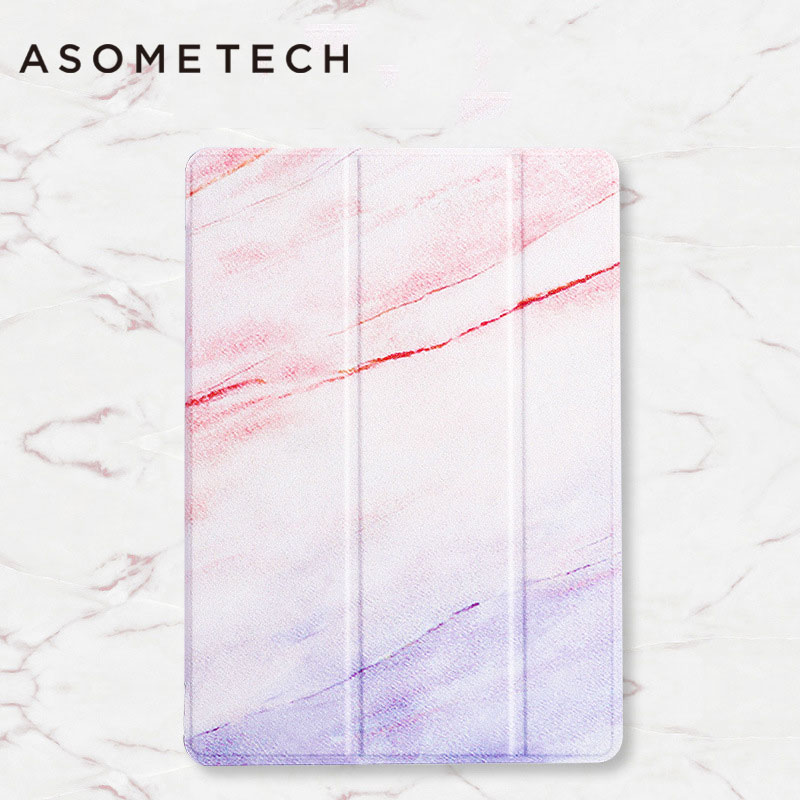Tablet back Case For new ipad 2017 Gradient Marble Folio Multi Folding Waterproof Folio protective shell for new ipad Cover skin встраиваемый светильник novotech 369593