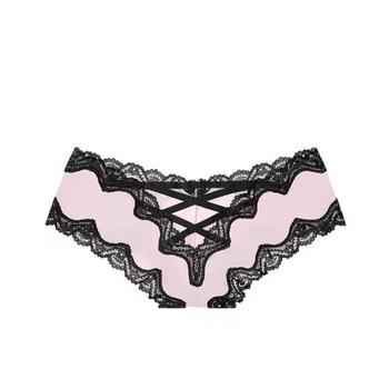 Ropa Interior Femenina L43 Z41 bragas de cintura baja de seda de encaje con tiras cruzadas sexuales Happy
