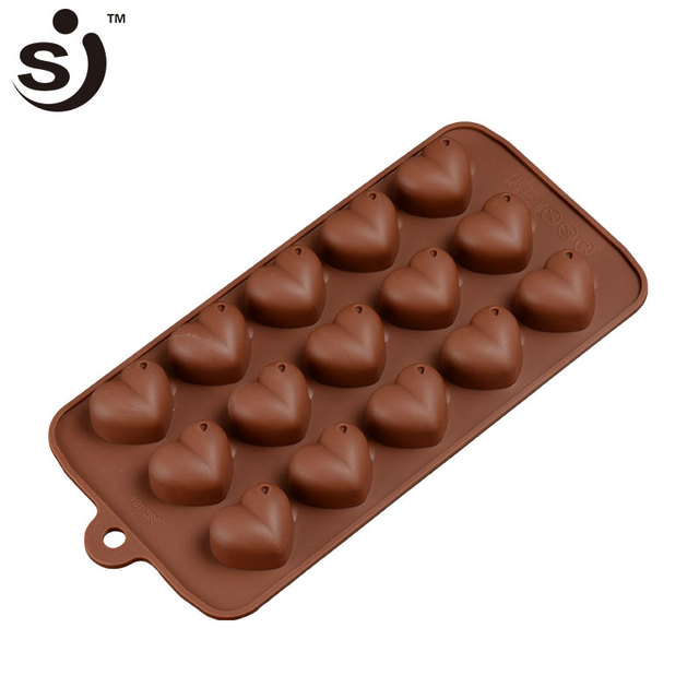 3d Silicone Chocolate Mould Lovely Valentine S Day 15 Cups Heart