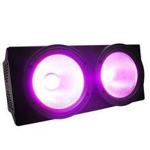 2 глаза 2x100 Вт Светодиодный светильник 200 Вт COB Par RGBW + УФ 6 в 1 DMX сценическое освещение эффект фотография Дискотека оборудование для диджея