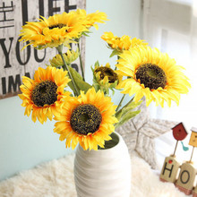 1PC Artificial Fake Flowers Sunflower Floral Wedding