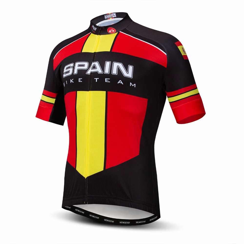 2019 weimostar ciclismo jérsei dos homens da bicicleta jerseys estrada mtb roupas de bicicleta roupas de corrida maillot camisetas espanha brasil vermelho