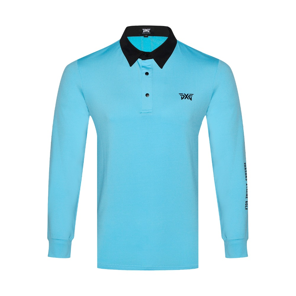 PXG Golf T-shirt Men Sportswear Long Sleeve Golf Shirt 5 colors Outdoor Activity Jersey S-XXL for Golf Tour Leisure Brand Shirt classic plaid pattern shirt collar long sleeves slimming colorful shirt for men