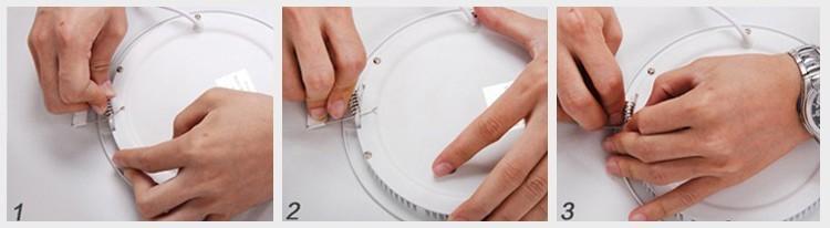 LED Panel light spring