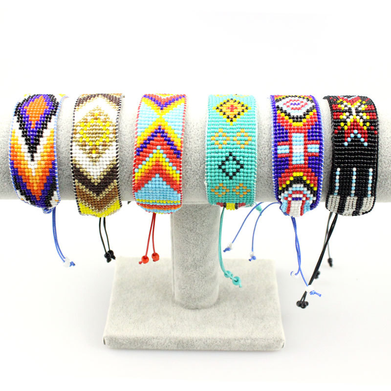 G.YCX Bohemian Handmade Woven Miyuki Bracelets Wristband for Men Women Delica Beads Bracelets Couple Friends Pulsera Party Gifts