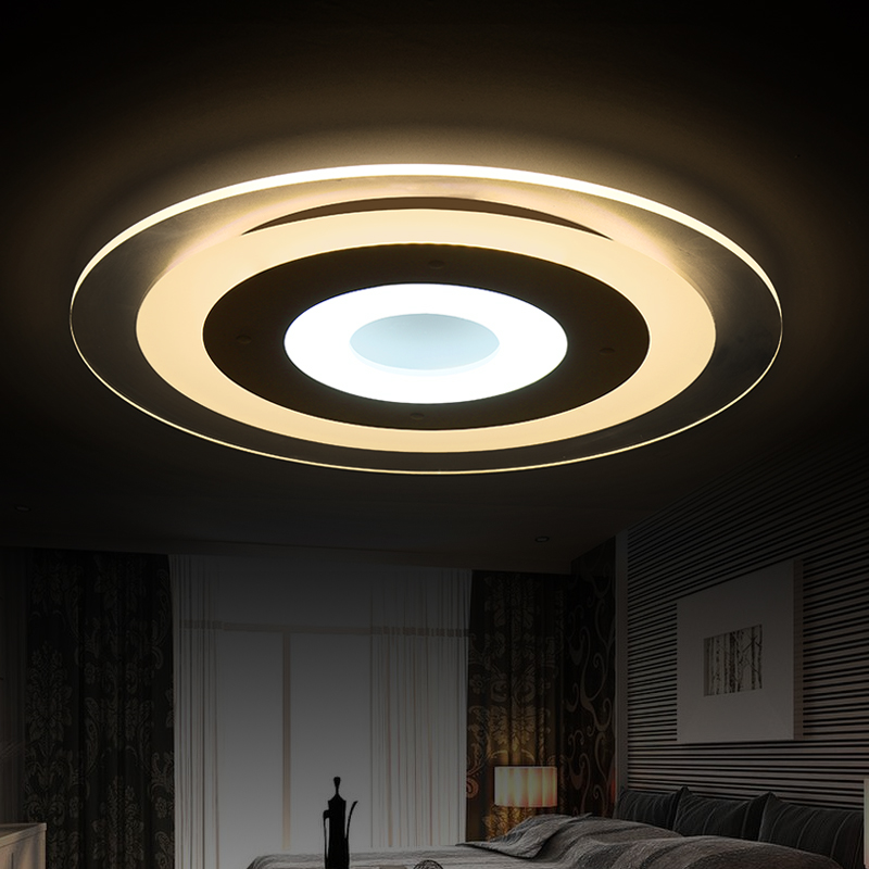 Фото The new modern rimless LED ceiling light color personality living room bedroom dining atmosphere creative acrylic ceiling lamp