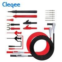 Cleqee P1300D 16 In 1 Super Replaceable Multimeter Probe Multi Meter Test Lead Kits Test Hook