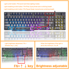 Gaming Keyboard Imitation Mechanical Keyboard Wired USB Game keyboards with Backlight Russian Gamer Keyboard  for Computer