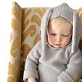 Sudaderas Para Las Muchachas Del Muchacho Ropa de bebé Primavera Antumn Casual Nyc, Los Géneros de Punto Jumper Pullover Conejo Lindo Niños Suéter Chaqueta