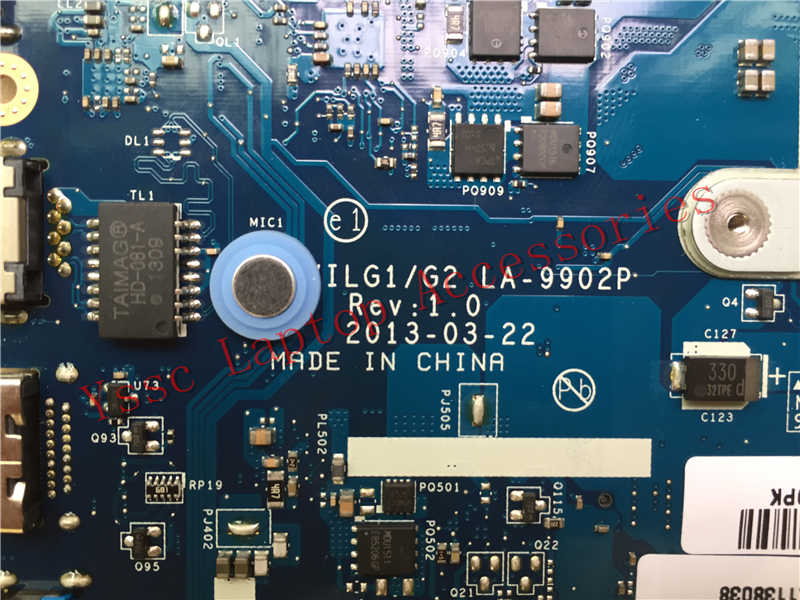 Новый VILG1/G2 LA-9902P материнская плата для Lenovo G500S материнская плата PGA989 HM76 (для I3 I5 I7 Процессор) Гарантия: 90 дней