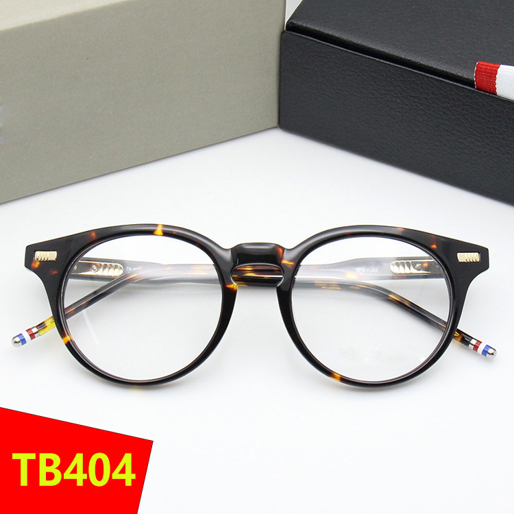 TB404 New York Brand THOM Round Eyeglasses Frames Men Women Prescription Glasses Men Computer Optical Round Frames with Box image