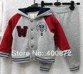 Мальчик детская одежда комплект дети 2 шт. костюмы устанавливает ребенка костюмы высокое качество 100% хлопок толстовка толстовка + брюки